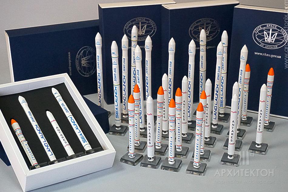 Сувенірний набір моделей ракет