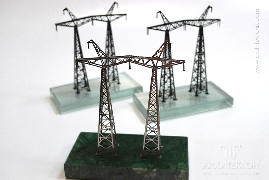 Подарок ко дню энергетика макет опоры линии электропередачи
