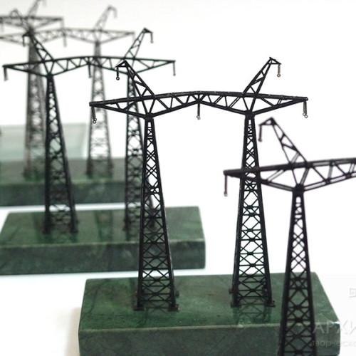 Миниатюрная модель опоры ЛЭП - подарок ко дню энергетика