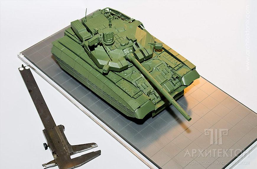 3D printing model of OPLOT tank in Kiev