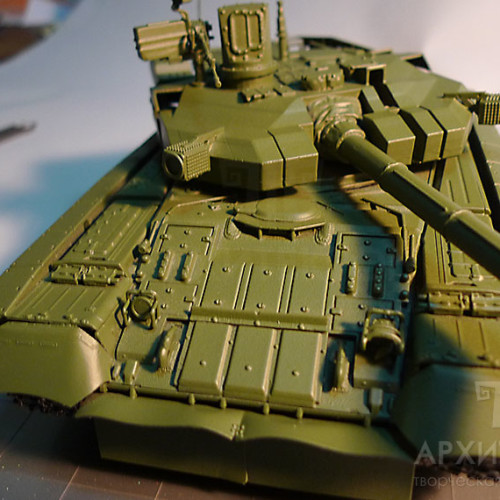 Scale model of OPLOT tank, 3D printing