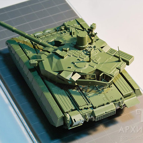 :35Scale model of OPLOT tank
