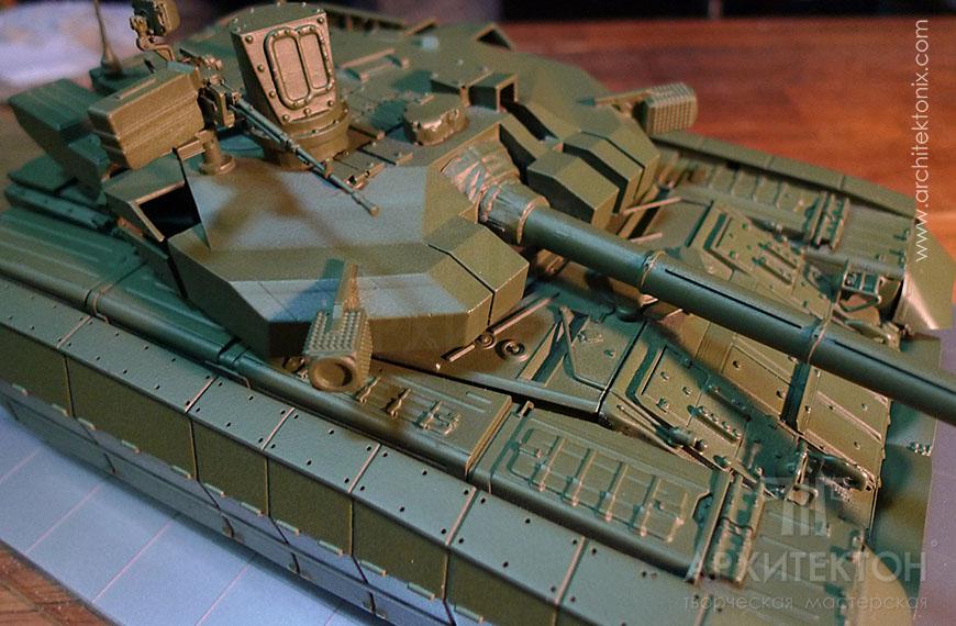 High degree of detail of model tank