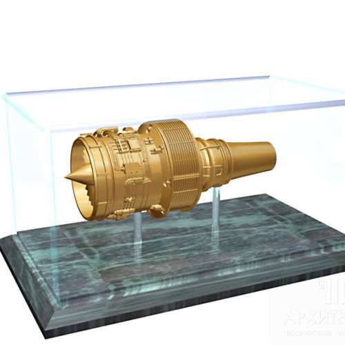 Предварительная визуализация макета двигателя Д-436