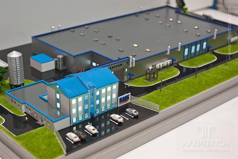Making custom model of industrial complex