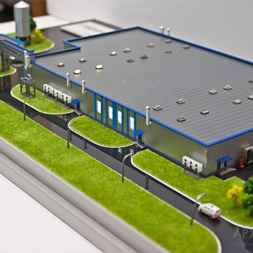 architectural model of factory