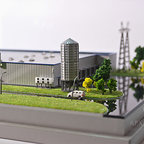 1:250 Scale model of factory