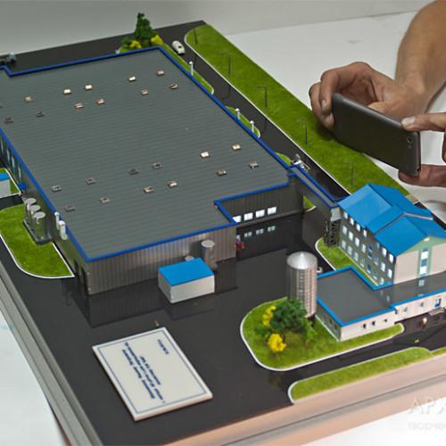 Custom model of industrial complex