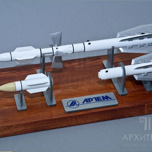 Масштабна модель ракети сімейства Р-27, 3D друк, вакуумне литво, Київ 2016год