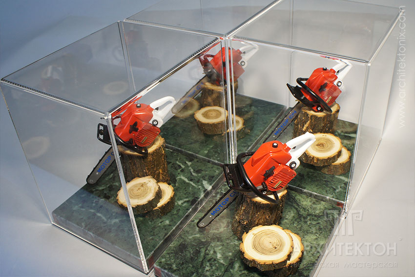"""Making custom series models of chainsaw """"Motor Sich MS-475"""