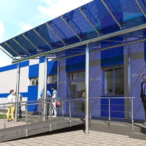 Архітектурна візуалізація проекту офісної будівлі