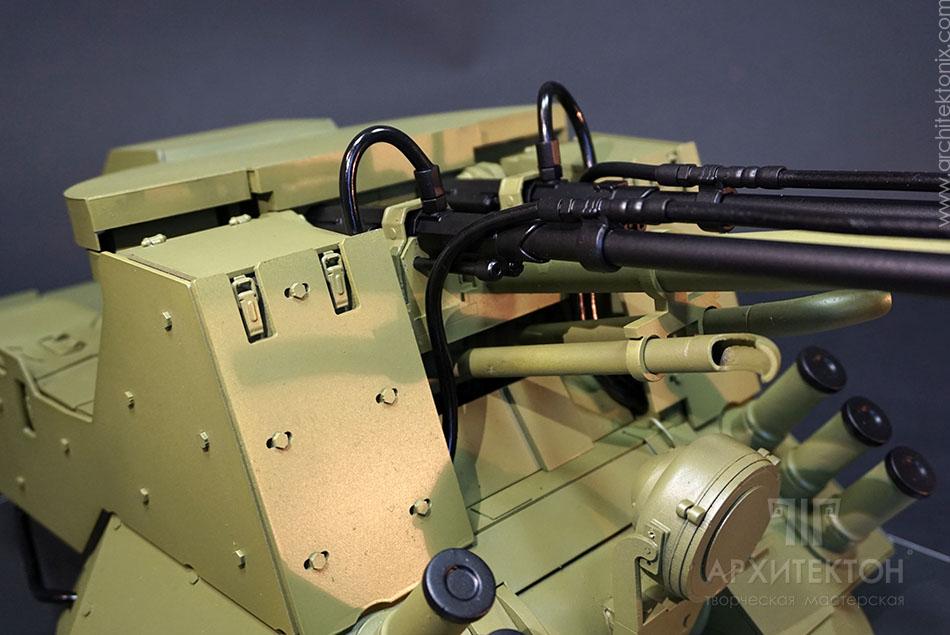 Custom-made model of BM-23-2 combat module