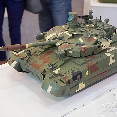 """Модель танка """"ОПЛОТ"""", масштаб 1/15"""