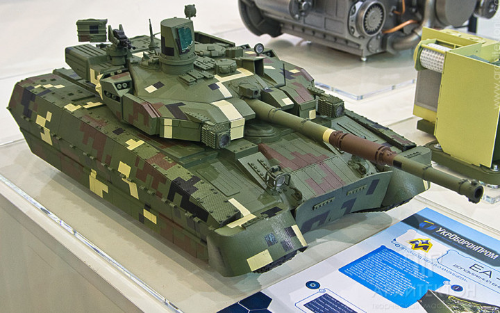 """smodel making of military equipment for purposes and Trade show calemodels of """"Oplot"""" tank"""