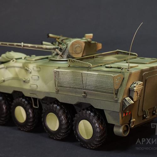 Модель БТР-60 Модернізований, масштаб 1/20