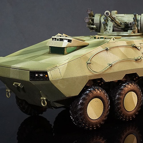 изготовление масштабной модели БТР 3д печать