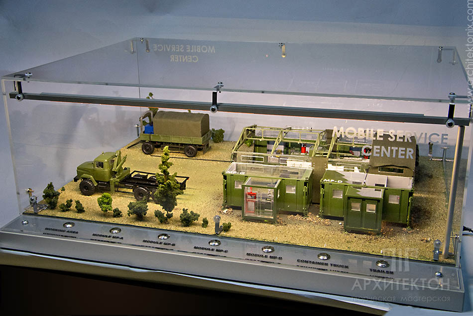 Макет пересувного польового комплексу для ремонту бронетанкової техніки ПК-ЛБТ-02