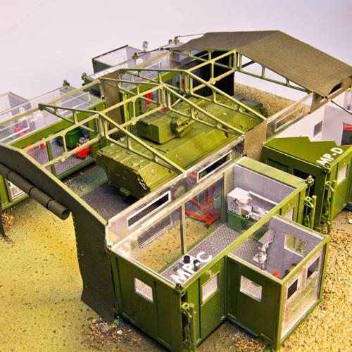 Виставковий макет комплексу для ремонту бронетанкової техніки