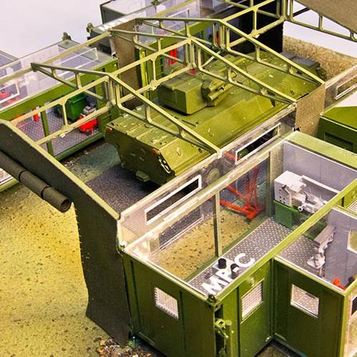 Заказать 3D макет военной техники с подсветкой