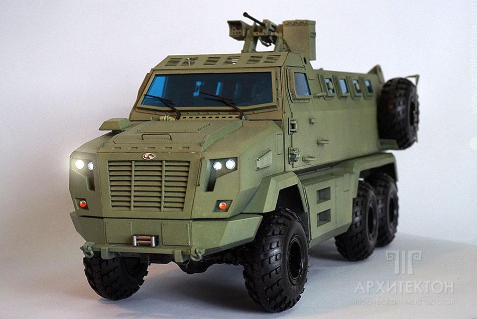 Изготовление масштабной модели КрАЗ Фиона, 3D печать, масштаб 1:15
