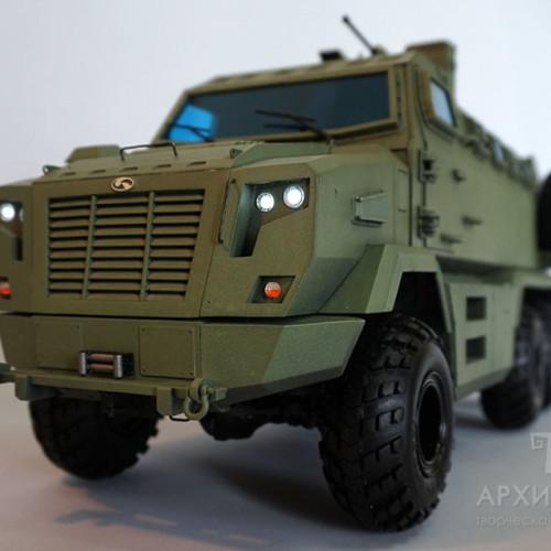 Масштабная модель КрАЗ Фиона для выставки