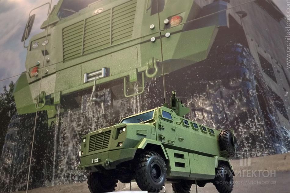 Модель КрАЗ Фиона на выставочном стенде