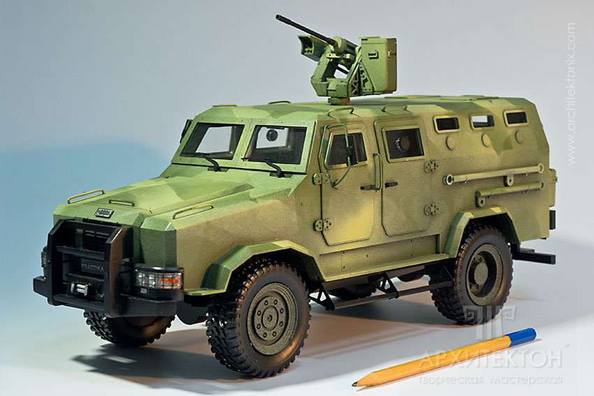 "1:20 scale model of multipurpose armored vehicle ""КОZАК-2"""