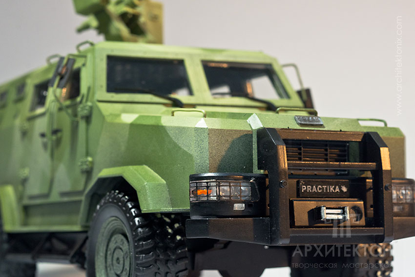 """Model of armored vehicle """"КОZАК-2"""" for Exhibition"""