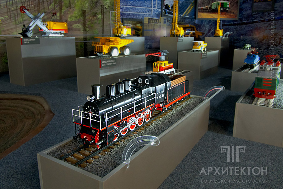 Масштабна модель паровоза для музею, 3Д друк