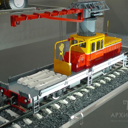Модель дрезини в експозиції музею