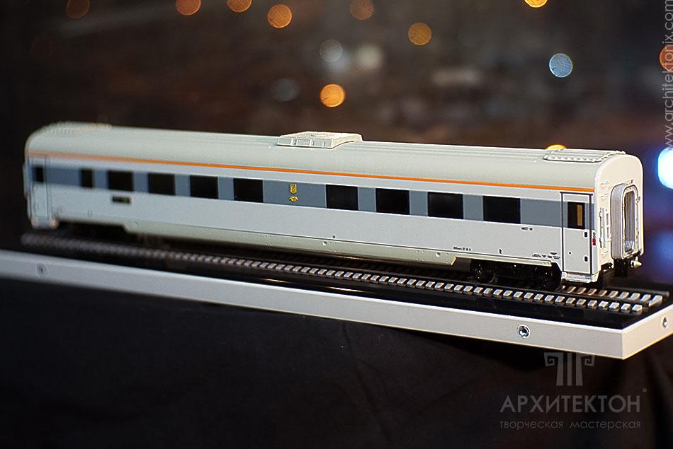 3D печать модели вагона с интерьером, Украина
