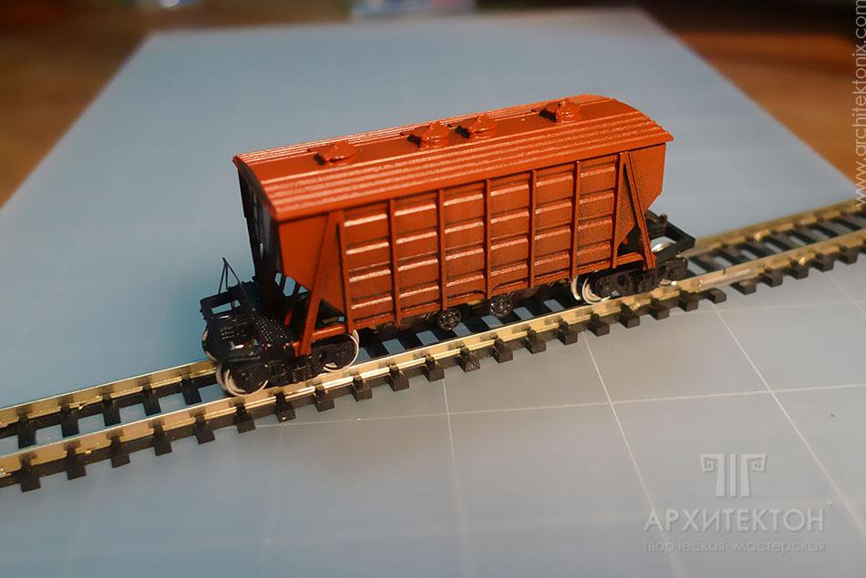 N scale Hopper Custom model Model making in Kyiv