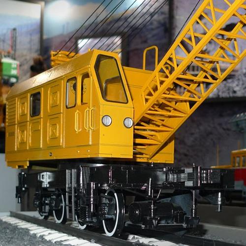 масштабная модель железнодорожного крана КЖДЭ-25 изготовление на заказ, Киев